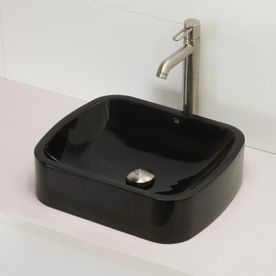 Incandescence Rectangular Vessel Bathroom Sink Sink Finish: Obsidian