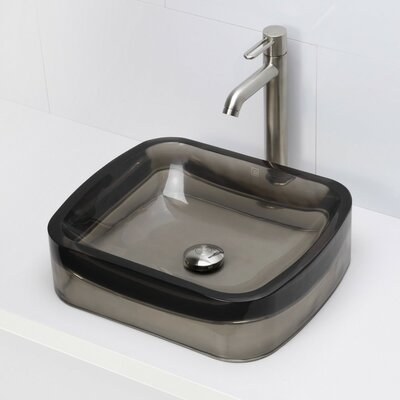 Incandescence Rectangular Vessel Bathroom Sink Sink Finish: Shadow