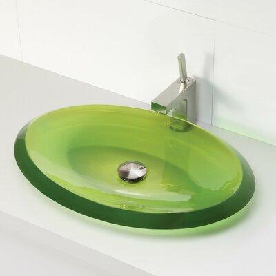 Incandescence Oval Vessel Bathroom Sink Sink Finish: Absinthe