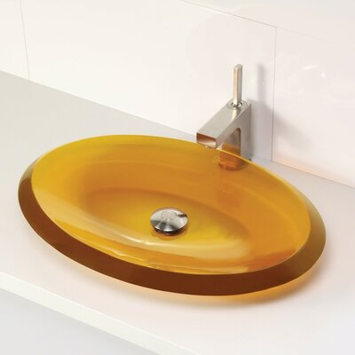 Incandescence Oval Vessel Bathroom Sink Sink Finish: Honeycomb