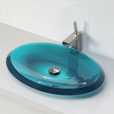 Incandescence Oval Vessel Bathroom Sink Sink Finish: Lagoon