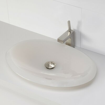 Incandescence Oval Vessel Bathroom Sink Sink Finish: Mist