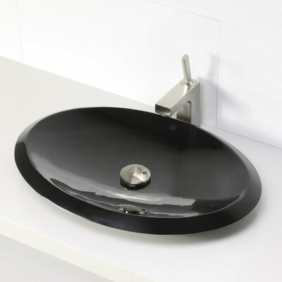 Incandescence Oval Vessel Bathroom Sink Sink Finish: Obsidian