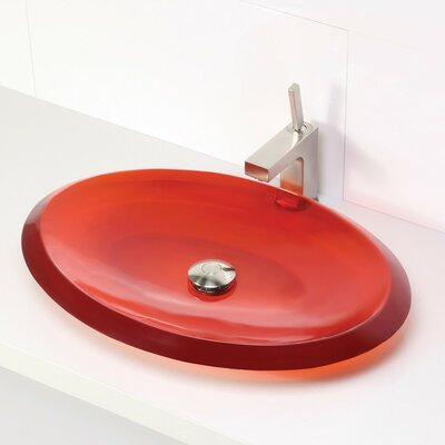 Incandescence Oval Vessel Bathroom Sink Sink Finish: Rage