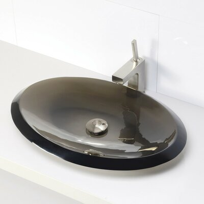 Incandescence Oval Vessel Bathroom Sink Sink Finish: Shadow