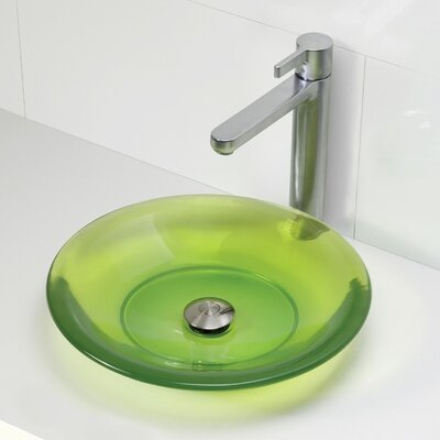 Incandescence Round Vessel Bathroom Sink Sink Finish: Absinthe