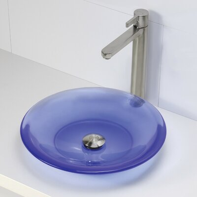 Nadine Incandescense Plastic Circular Vessel Bathroom Sink Finish: Atmosphere