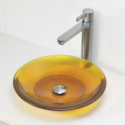 Nadine Incandescense Plastic Circular Vessel Bathroom Sink Finish: Honeycomb
