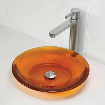 Nadine Incandescense Plastic Circular Vessel Bathroom Sink Finish: Magma