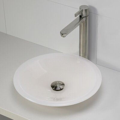 Nadine Incandescense Plastic Circular Vessel Bathroom Sink Finish: Mist