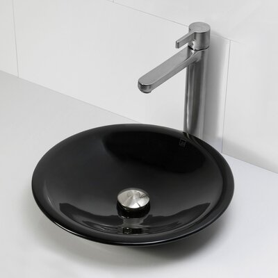 Nadine Incandescense Plastic Circular Vessel Bathroom Sink Finish: Obsidian
