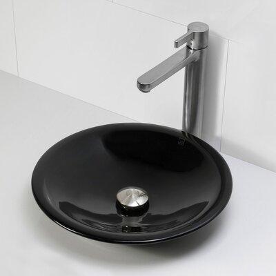 Incandescence Round Vessel Bathroom Sink Sink Finish: Obsidian