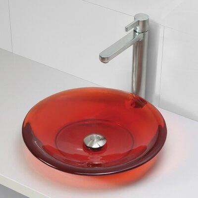 Incandescence Round Vessel Bathroom Sink Sink Finish: Rage
