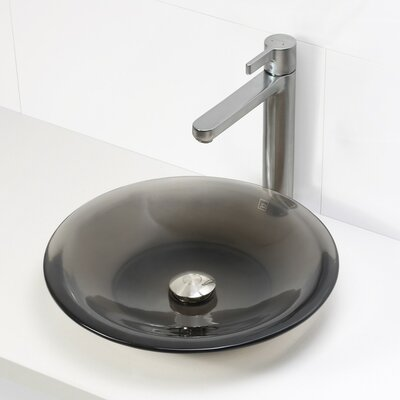 Incandescence Round Vessel Bathroom Sink Sink Finish: Shadow