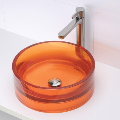 Lana Incandescense Plastic Circular Vessel Bathroom Sink Sink Finish: Magma