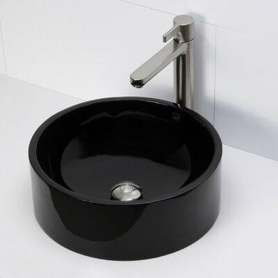 Lana Incandescense Plastic Circular Vessel Bathroom Sink Sink Finish: Obsidian
