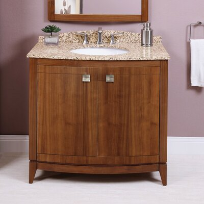 Gavin 36 Bathroom Vanity Base Finish: Medium Walnut