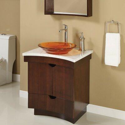 Tishomingo 24 Single Bathroom Vanity Set Base Finish: Dark Walnut