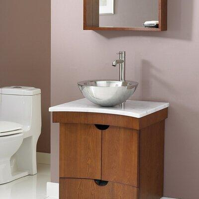 Tishomingo 24 Single Bathroom Vanity Set Base Finish: Cognac