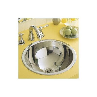 Teanna Stainless Steel Metal Circular Undermount Bathroom Sink Sink Finish: Polished Steel