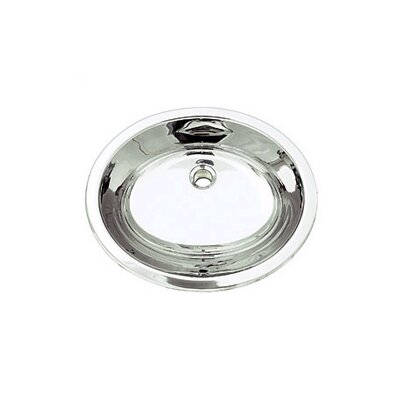 Simply Stainless Oval Undermount Bathroom Sink with Overflow Sink Finish: Polished Steel
