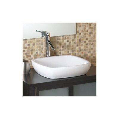 Classically Redefined Semi-Recessed Ceramic Square Vessel Bathroom Sink