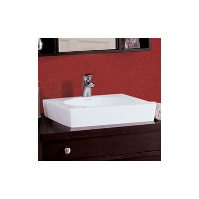 DecoLav Classically Redefined Square Ceramic Vessel Sink