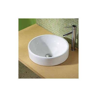 Raina Classically Redefined Ceramic Circular Vessel Bathroom Sink with Overflow