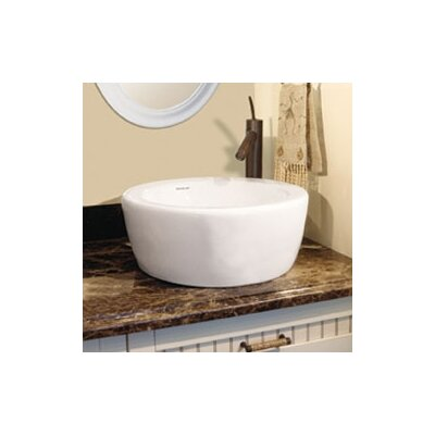 Classically Redefined Ceramic Circular Vessel Bathroom Sink with Overflow