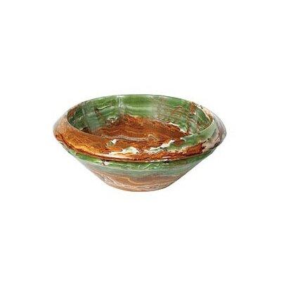 A Perfect Chisel Circular Vessel Bathroom Sink Sink Finish: Green Brown Onyx