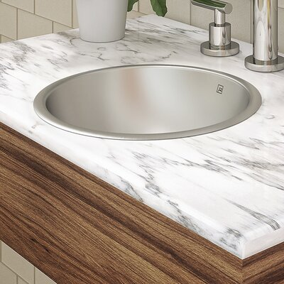 Hayley Stainless Steel Metal Circular Undermount Bathroom Sink with Overflow Sink Finish: Brushed Steel