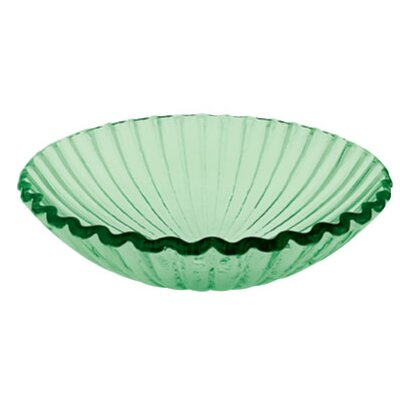 Translucence Clam Shell Glass Circular Vessel Bathroom Sink Color: Green