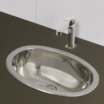 Simply Stainless Oval Undermount Bathroom Sink