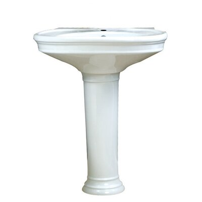 Vitreous China Sink 34 Pedestal Bathroom Sink
