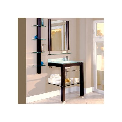 Bathroom Furniture 28 Single Wall-Mounted Vanity Set with Mirror