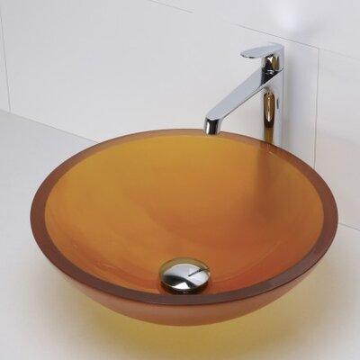 Translucence Glass Circular Vessel Bathroom Sink Sink Finish: Frosted Amber