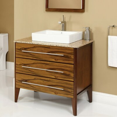 Mila 37 Single Bathroom Vanity Set Base Finish: Mahogany