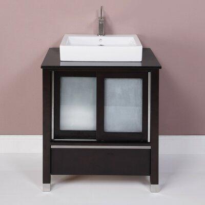 Tyson 31 Single Bathroom Vanity Set Base Finish: Espresso