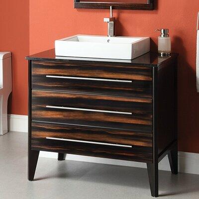 Mila 37 Single Bathroom Vanity Set Base Finish: Espresso