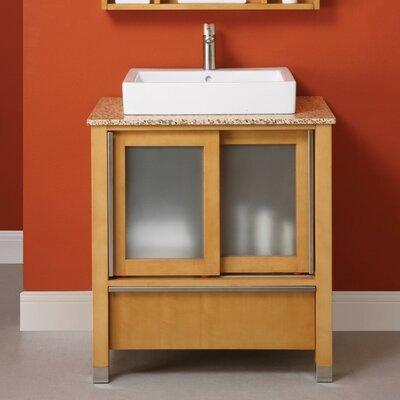 Tyson 31 Single Bathroom Vanity Set Base Finish: Maple