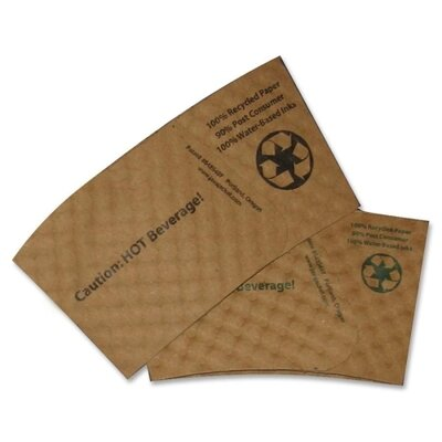 Hot Beverage Sleeves, Fits 12-20 oz. Cups, 1300/CT, Brown MJKJAV600