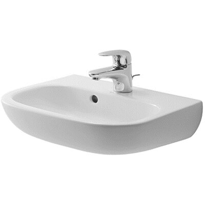 D-Code Ceramic 18 Wall Mount Bathroom Sink with Overflow