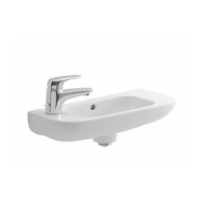 D-Code 20 Wall Mount Bathroom Sink with Overflow Orientation: Left Tap Hole
