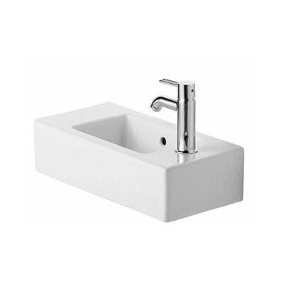 Vero Ceramic Rectangular Vessel Bathroom Sink with Overflow