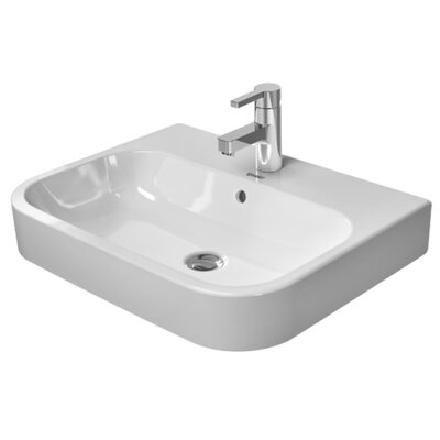 Happy D.2 Washbasin 24 Console Bathroom Sink with Overflow