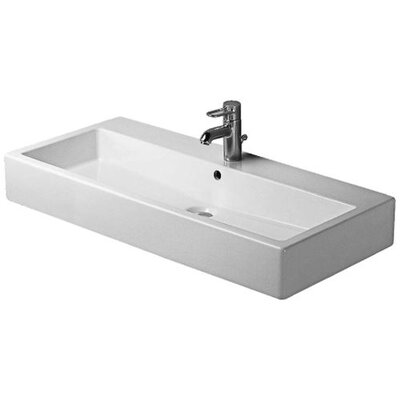 Vero 39 Wall Mounted Bathroom Sink with Overflow