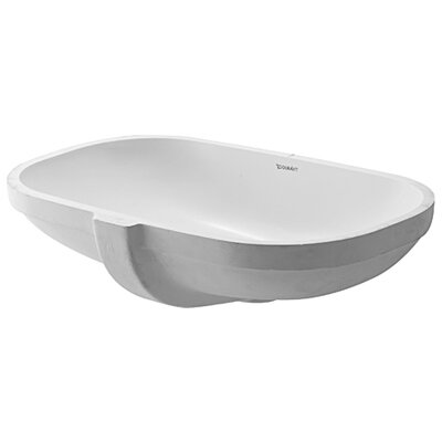 D-Code Oval Undermount Bathroom Sink with Overflow
