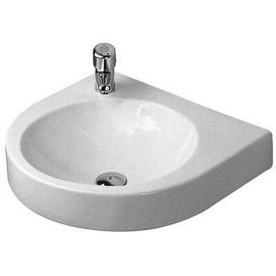 Architec Porcelain 23 Wall Mount Bathroom Sink with Overflow