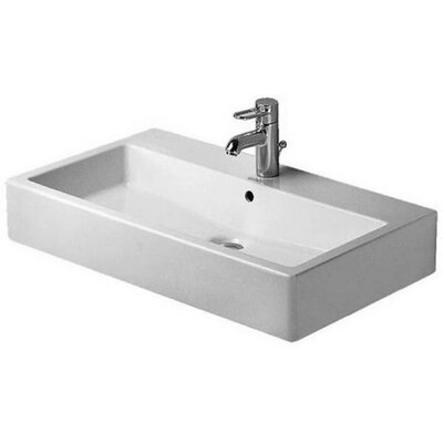 Vero Porcelain Rectangular Vessel Bathroom Sink with Overflow
