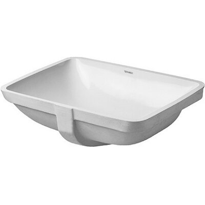 Starck 3 Rectangular Undermount Bathroom Sink with Overflow